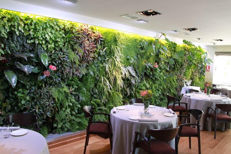 El jard n en la pared paredes vivientes con plantas for Paredes verticales de plantas