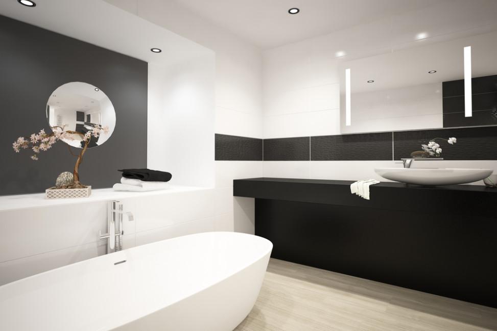 Ba o moderno blanco y negro fotos para que te inspires - Banos con estilo moderno ...