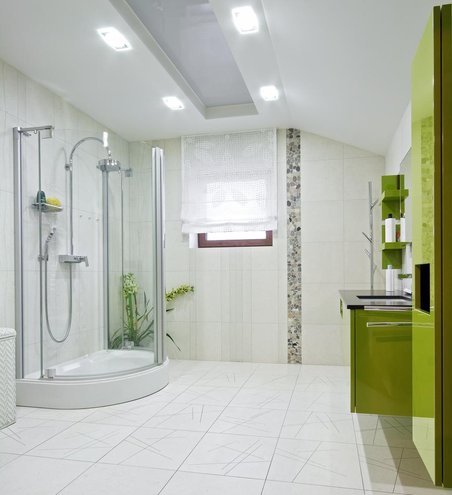 Baño con mueble suspendido verde pistacho Fotos para que te inspires