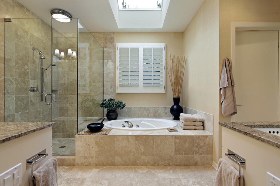 amazing great bao de mrmol con mampara de cristal fotos para que te inspires with baos de marmol with bao marmol with cuartos de bao de marmol - Baos De Marmol