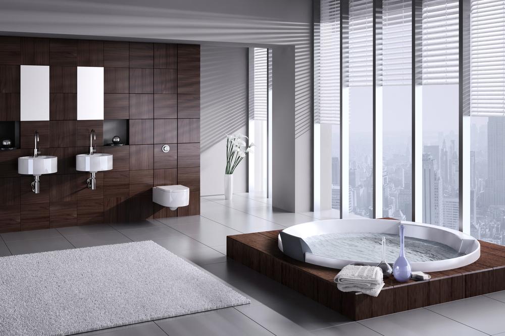 Ba o moderno gris y madera fotos para que te inspires - Ver fotos de cuartos de banos modernos ...