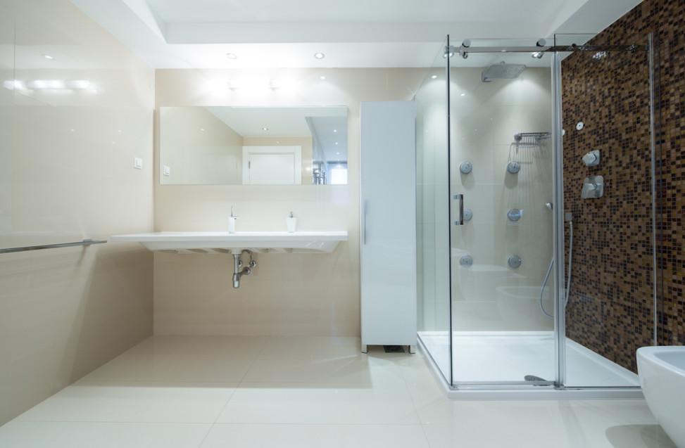 Ba o sencillo con ducha hidromasaje fotos para que te for Fotos banos con ducha