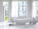 Baño vintage con bañera moderna