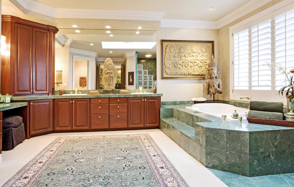 Baños Estilo Asiatico:Baño clásico en tonos verdosos Fotos para que te inspires