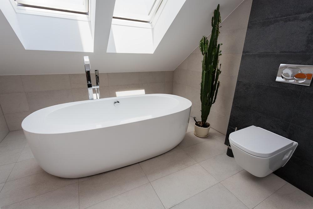 Imagenes De Baños Pequenos Con Banera:Baño en buhardilla con bañera exenta Fotos para que te inspires