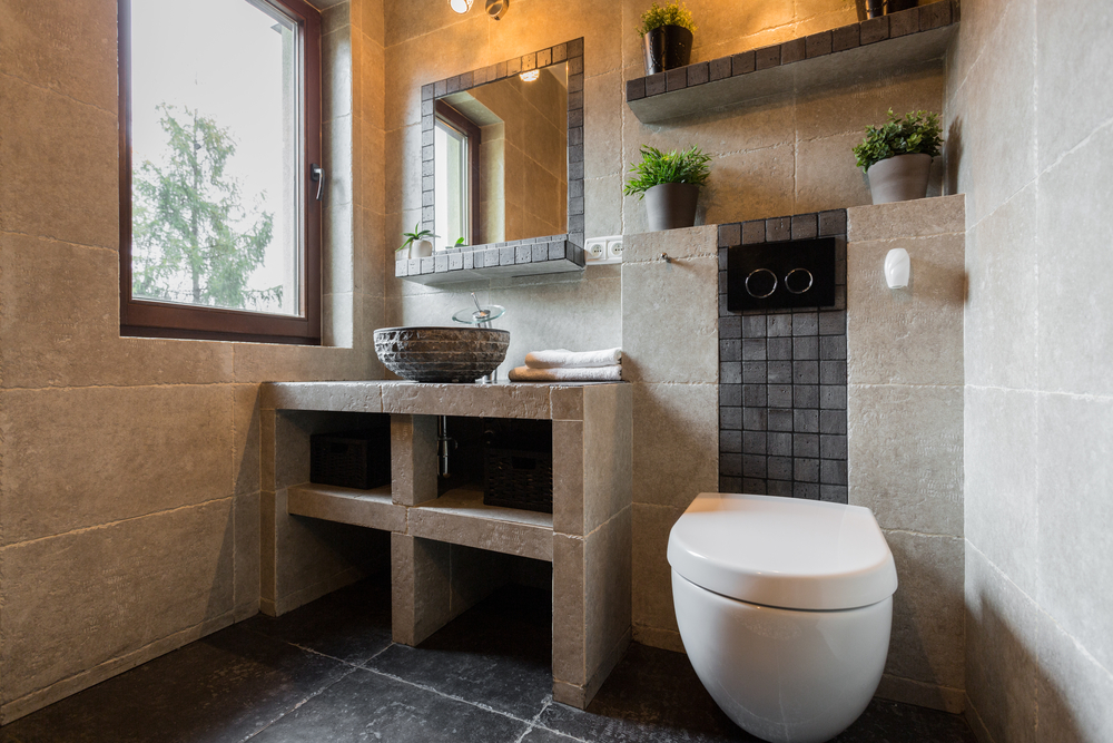 Sanitarios Baño Antiguos:Baño rústico todo en piedra Fotos para que te inspires