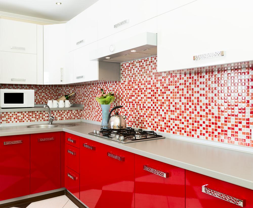 Cocina moderna de color rojo fotos para que te inspires - Cocinas color rojo ...