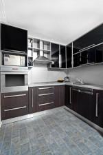 Cocina moderna en madera wengué