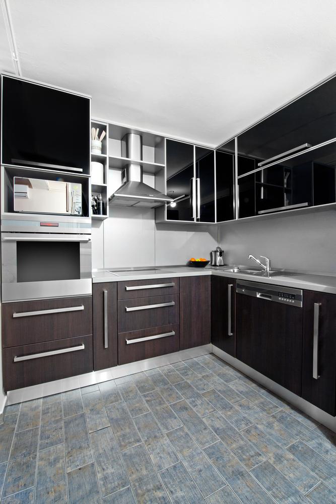 Cocina moderna simple cocina moderna en gijn asturias - Cocinas de madera modernas ...
