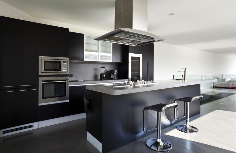 cocina moderna en negro fotos para que te inspires