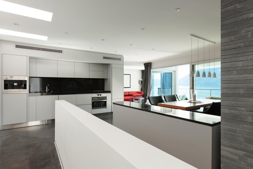 Cocina moderna en loft fotos para que te inspires for Cocinas modernas blancas y grises