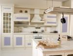 Cocina vintage en blancos y azules