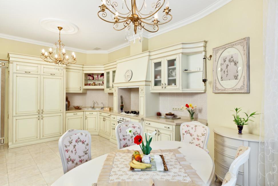 Cocina comedor vintage con l mparas de ara a fotos para - Mesa cocina vintage ...