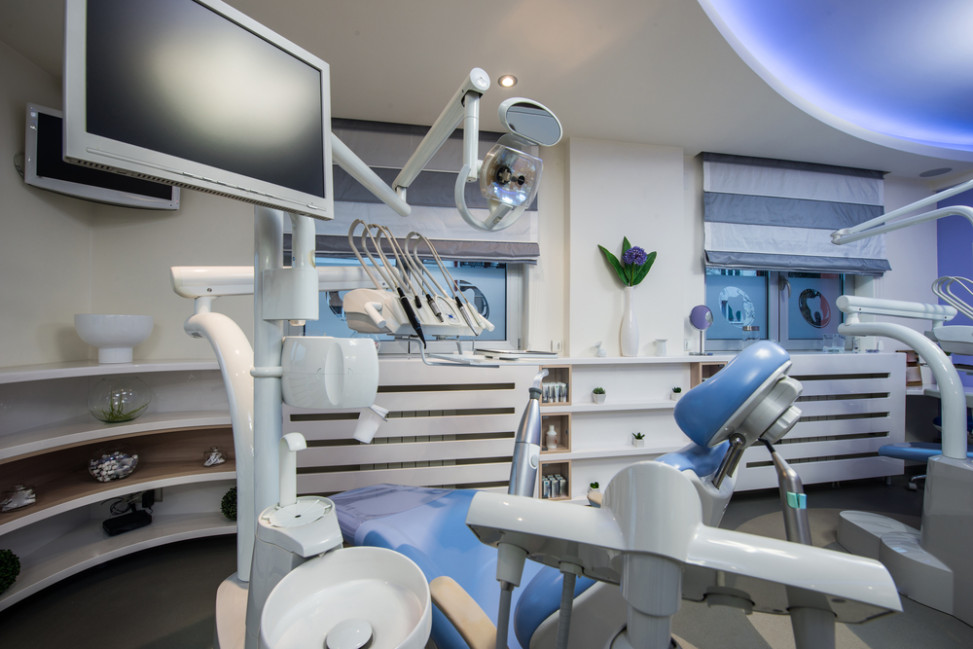 Gabinete dental con suelo gris fotos para que te inspires - Clinica dental moderna ...