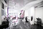 Peluquería blanco, negro y rosa