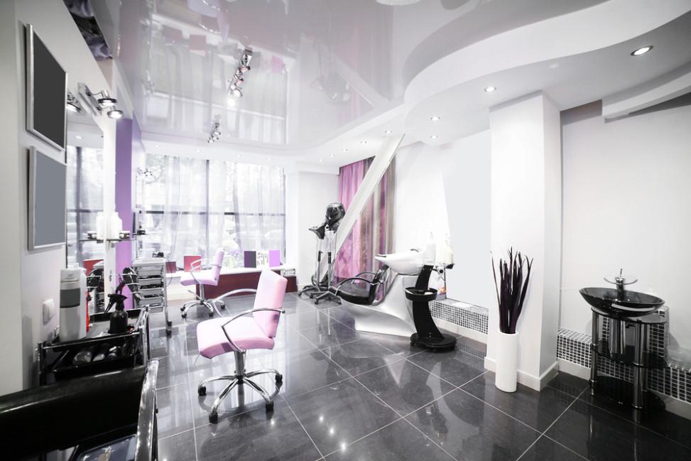 Peluquer a blanco negro y rosa fotos para que te for Iluminacion para peluquerias