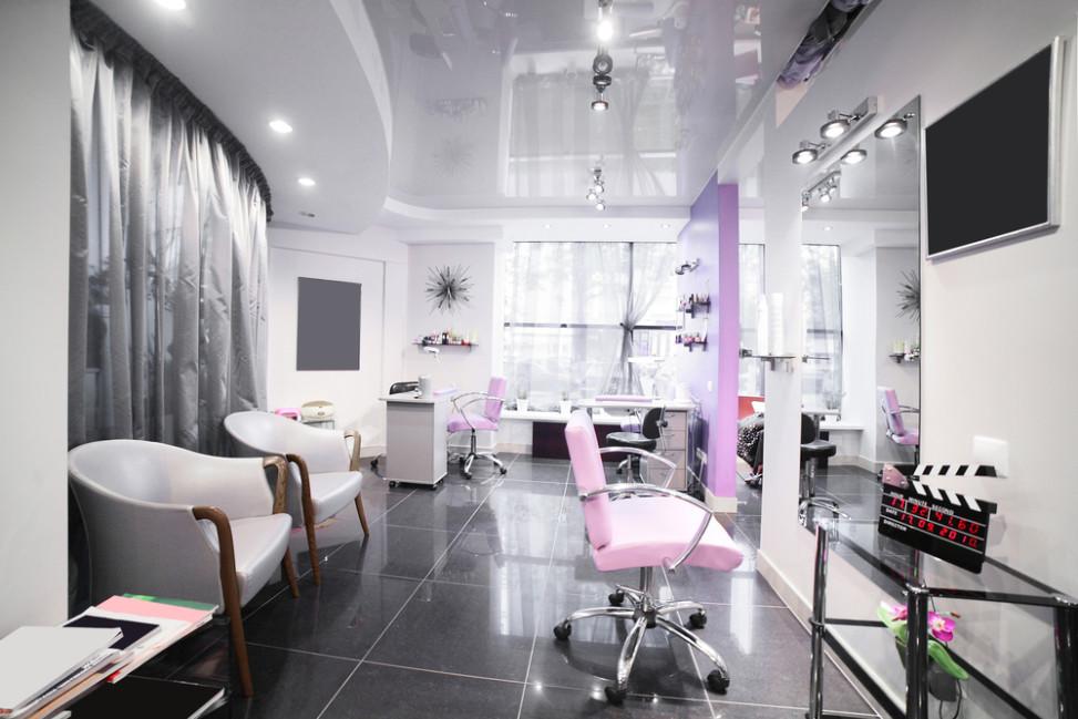 Peluquer a ex tica con tonos rosa fotos para que te for Salones de peluqueria decoracion fotos