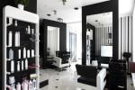 Peluquería moderna blanco y negro