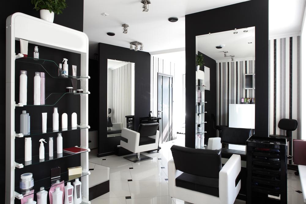 Peluquer a moderna blanco y negro fotos para que te - Salon pequeno moderno ...