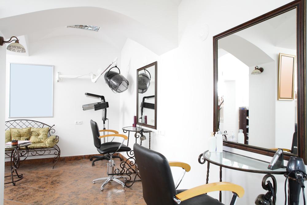 Peluquer a vintage con banco de hierro fotos para que te for Administrar un salon de belleza