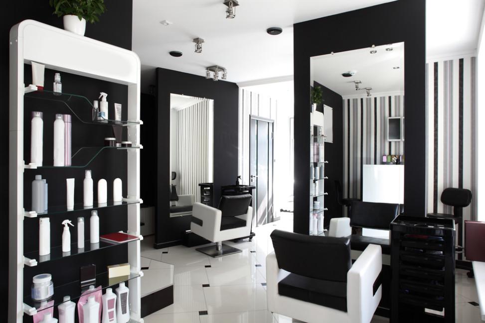 Peluquer a moderna blanco y negro fotos para que te inspires 3presupuestos - Deco salon zwart wit ...