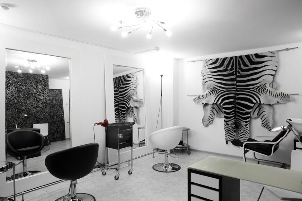 Peluquer a vintage blanco y negro fotos para que te - Decoracion en peluquerias ...