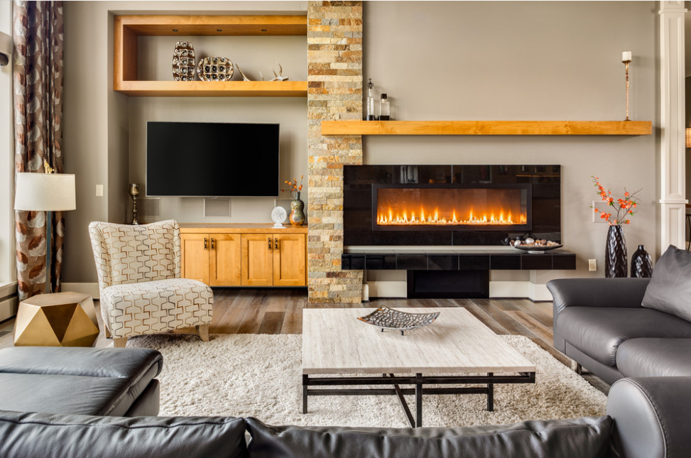 sal n cl sico con chimenea fotos para que te inspires 3presupuestos. Black Bedroom Furniture Sets. Home Design Ideas