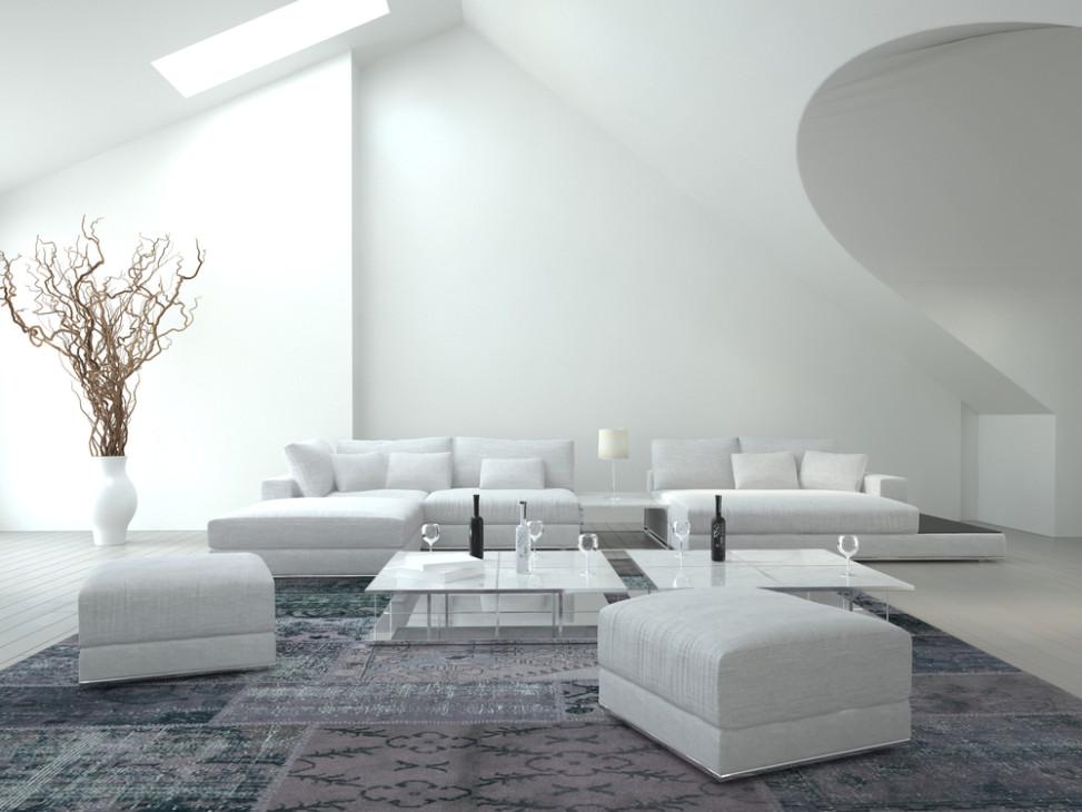 saln moderno con muebles blancos fotos para que te inspires