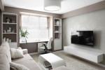 Salón moderno con sofá de terciopelo