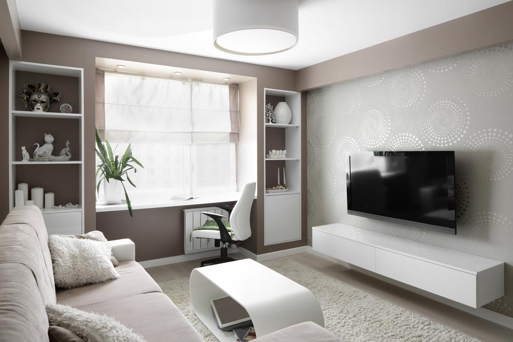 Sal n moderno con sof de terciopelo fotos para que te for Murales salon modernos
