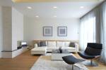 Salón moderno de tonos beige