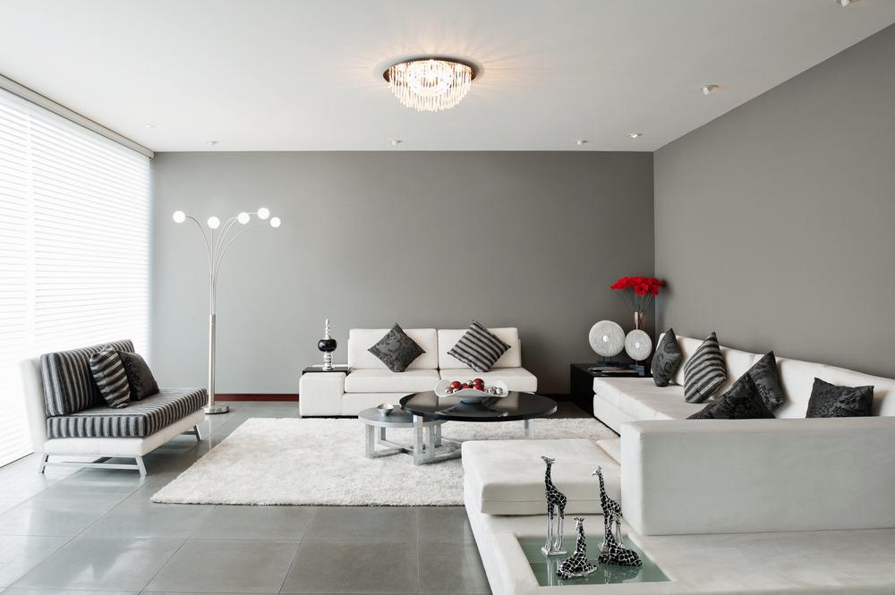 Sal n moderno de tonos grises fotos para que te inspires - Salones juveniles modernos ...