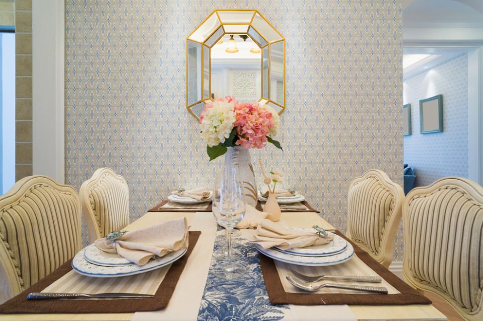 Comedor vintage con pared empapelada. Fotos para que te inspires ...