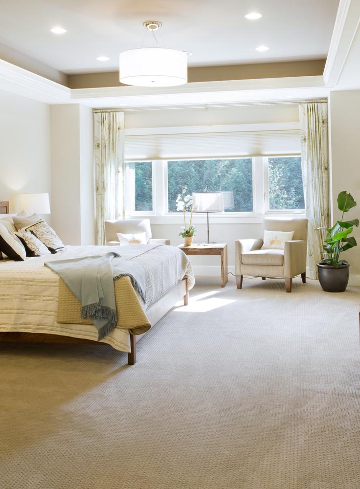 Dormitorio de tonos beige con moqueta fotos para que te - Dormitorio beige ...