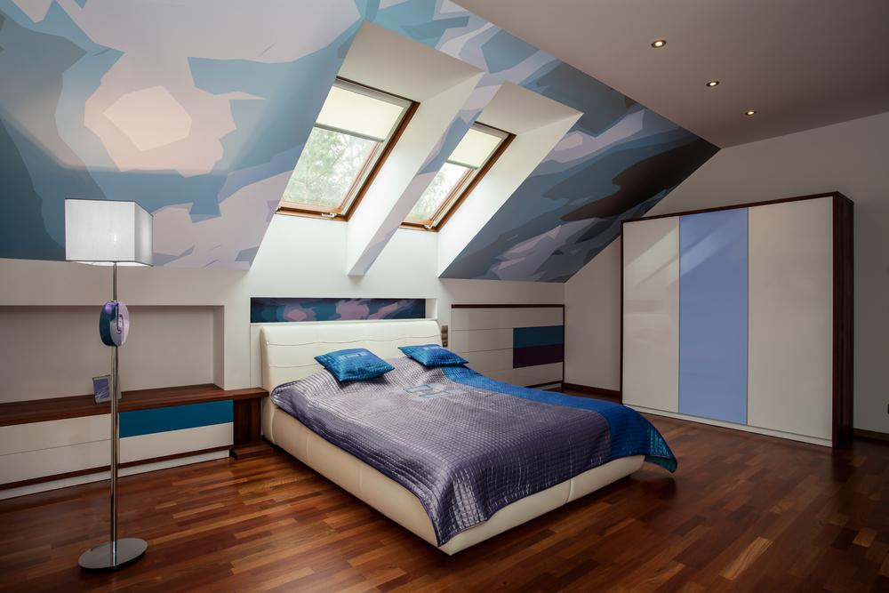 dormitorio eclctico en buhardilla