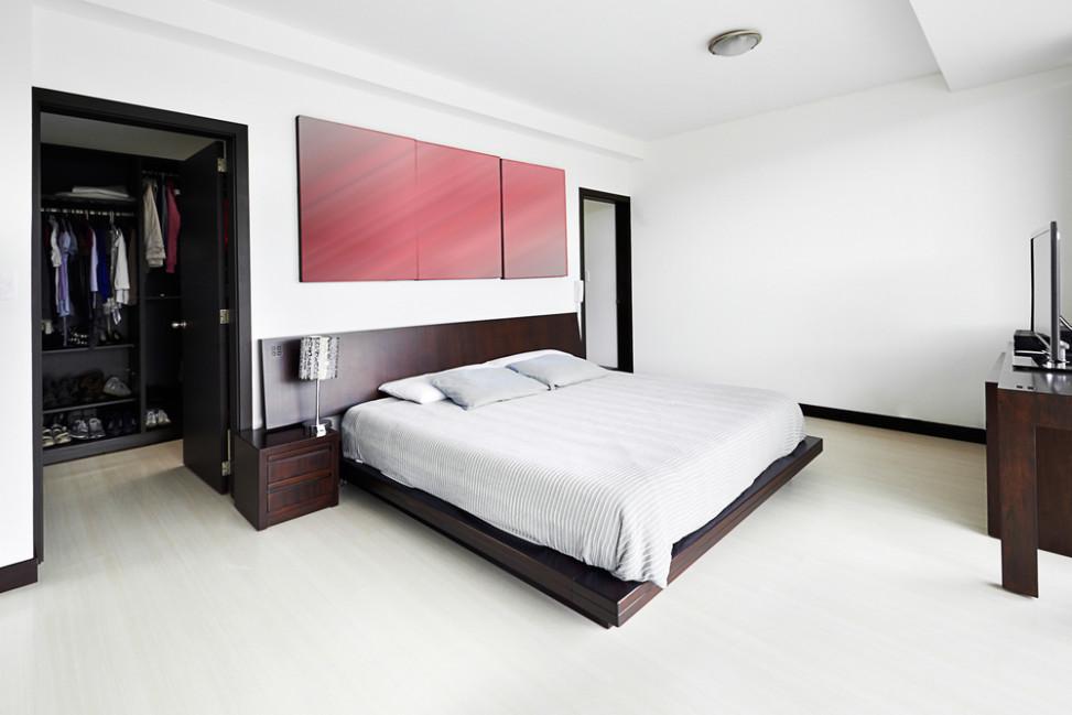 Dormitorio moderno con vestidor fotos para que te for Tipos de roperos para dormitorios