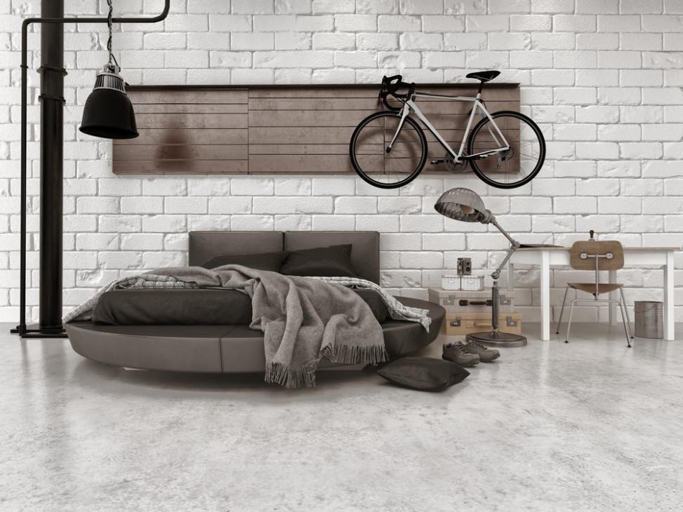 Dormitorio de estilo industrial con ladrillo visto fotos para que te inspires 3presupuestos - Camera da letto stile industriale ...