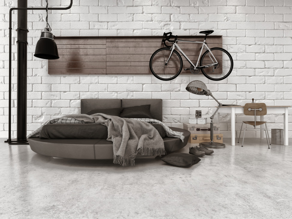 Dormitorio de estilo industrial con ladrillo visto fotos - Camera da letto stile industriale ...
