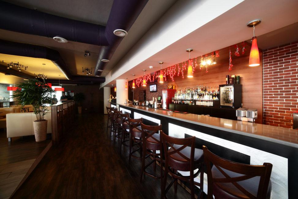 bar moderno con ladrillo visto fotos para que te inspires