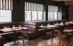 Cafetería clásica con suelo de baldosa hidráulica