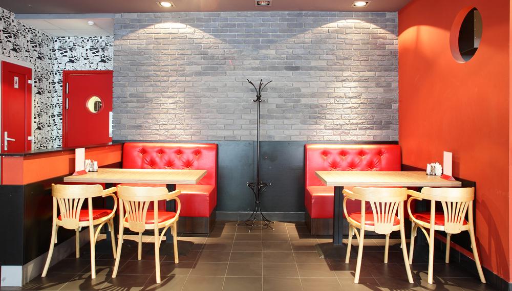 Decoracion de cafeterias pequeas fabulous la esttica loft for Fachadas de restaurantes modernos