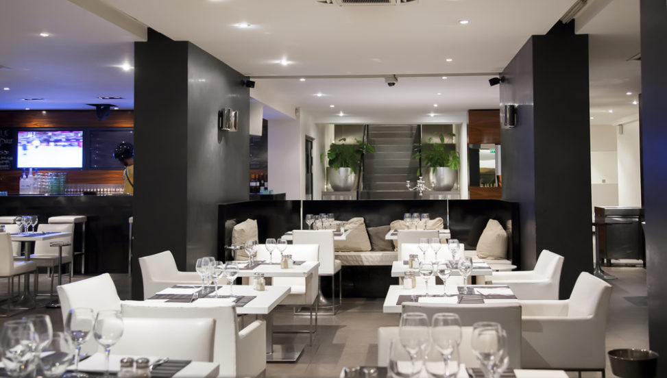 Restaurante Moderno Con Muebles Blancos Fotos Para Que Te