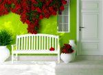 Terraza de estilo vintage con flores