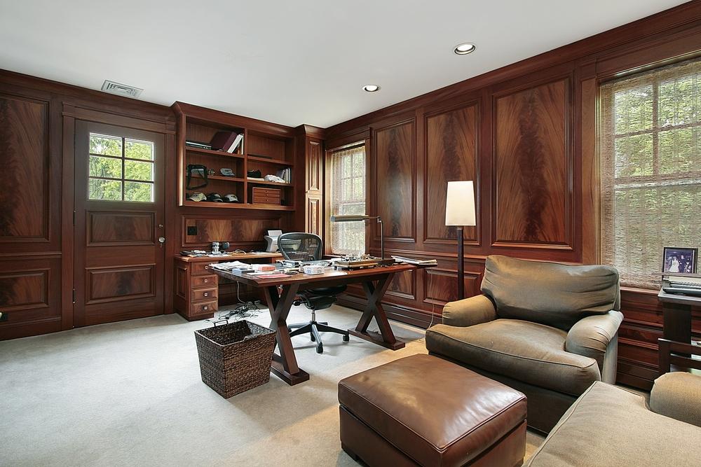 Despacho cl sico con suelo de moqueta fotos para que te - Despachos grandes ...