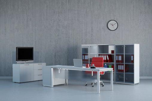 Fotos paredes grises ideas para reformas y decoraci n for Despacho estilo industrial