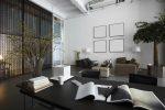 Despacho de estilo japonés con zona de reuniones