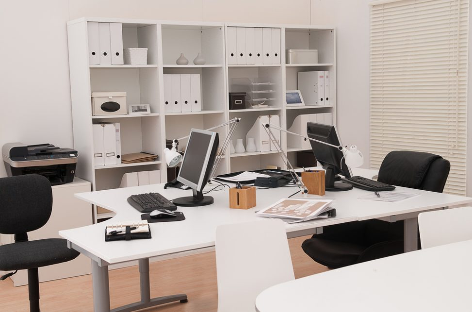 Muebles Oficina Modernos.Oficina Moderna De Muebles Blancos Fotos Para Que Te